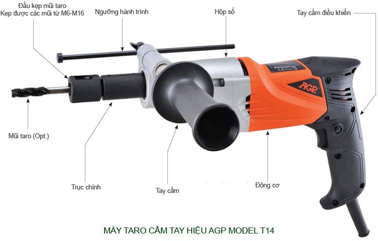 Máy taro cầm tay hiệu AGP model T14