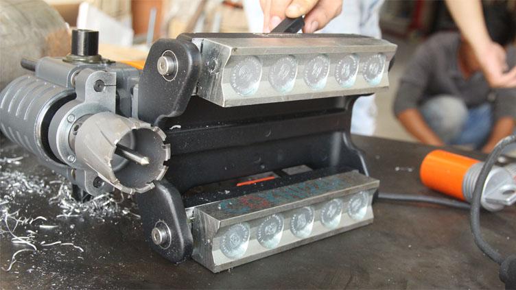Máy khoan từ thấp đế nam châm vĩnh cữu chuyên dụng khoan ống