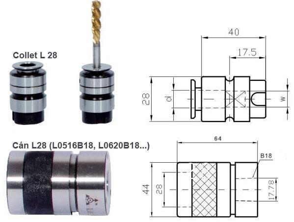 Collet L28 và cán L0516B18 L0620B18