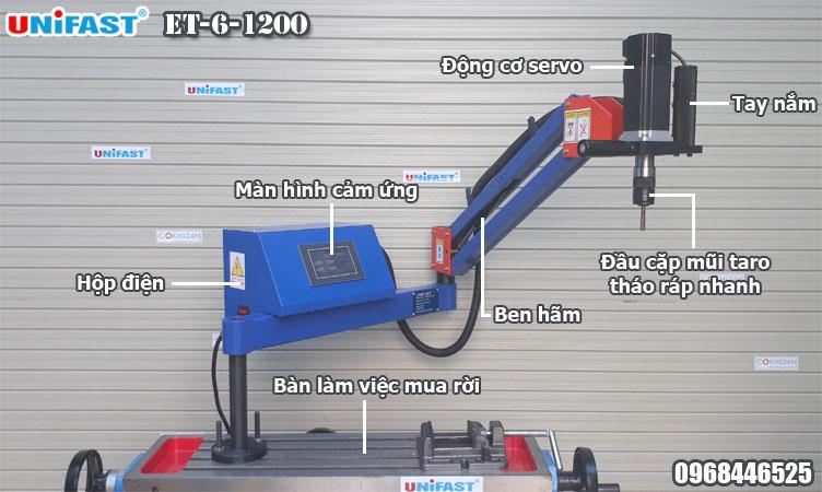 Máy ta rô cần điện hiệu UniFast model ET-6-1200